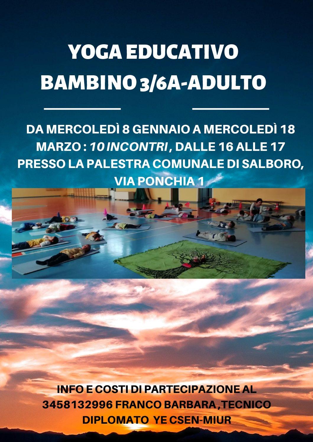 CICLO INCONTRI YOGA EDUCATIVO GENITORE-BAMBINO
